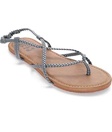 Billabong Crossing Over Grey Sandals