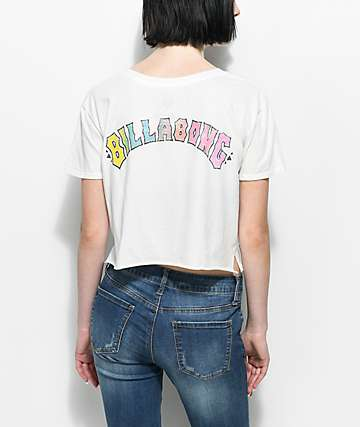 Billabong Heritage Spirit White Crop T-Shirt
