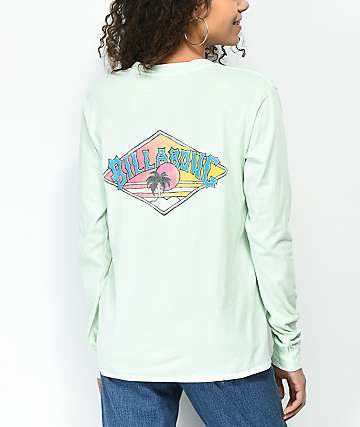 Billabong High Tide New Wave Mint Long Sleeve T-Shirt