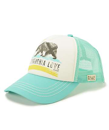 Billabong Pitstop Cali Love Mint Trucker Hat