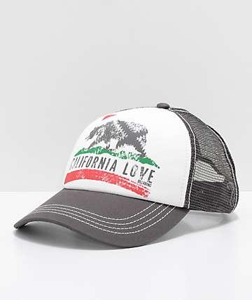 Billabong Pitstop Cali Love gorra snapback en negro y blanco