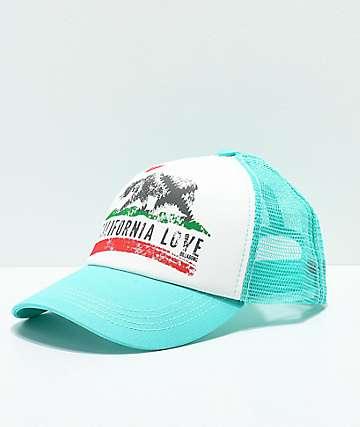Billabong Pitstop Cali Love gorra snapback en verde azulado