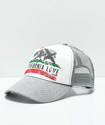 Billabong Pitstop Grey Cali Love Snapback Hat