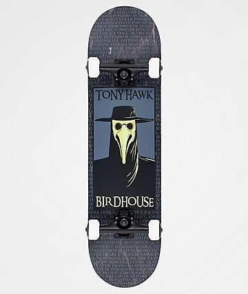 "Birdhouse Hawk Plague Doctor 8.0"" Skateboard Complete"