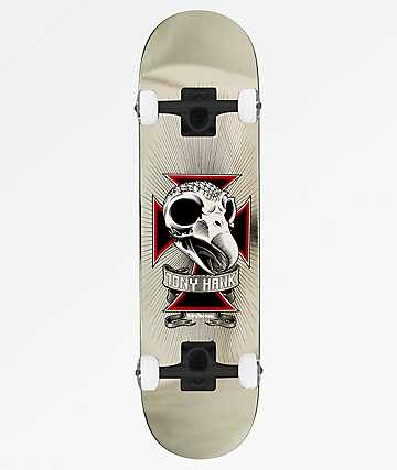 "Birdhouse Hawk Skull 2 Chrome 7.75"" Skateboard Complete"
