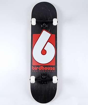 "Birdhouse Logo 8.0"" Black & Red Skateboard Complete"