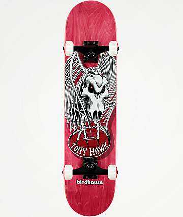 "Birdhouse Tony Hawk Falcon 4 Red 7.5"" completo de skate"
