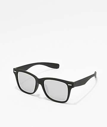 Black & Silver Wayfarer Sunglasses