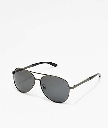 Black On Black Aviator Sunglasses
