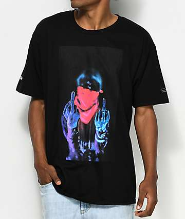 Black Scale Apples Black T-Shirt