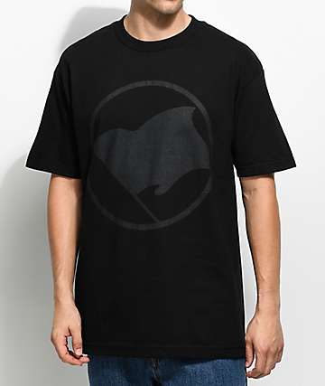 Black Scale Flag Black T-Shirt