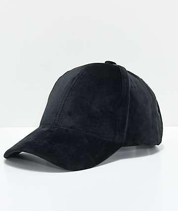 Black Velvet Dad Hat