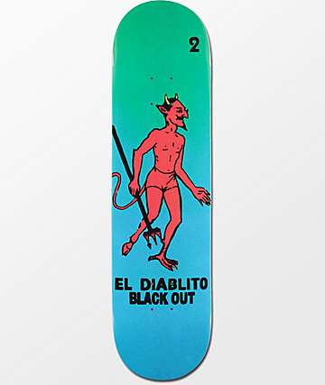 "Blackout El Diablito 8.25"" Skateboard Deck"