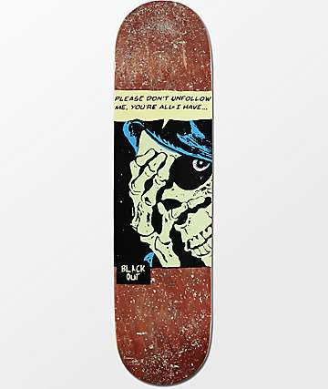 "Blackout Instagrim 8.0"" Skateboard Deck"