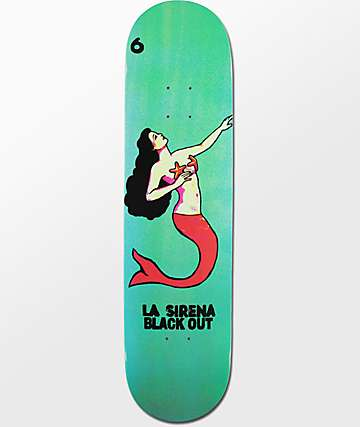 "Blackout La Sirena 8.0"" Skateboard Deck"
