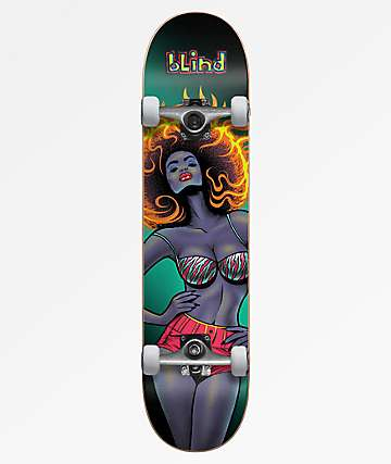 "Blind Blacklight Girl 8.0"" Skateboard Complete"