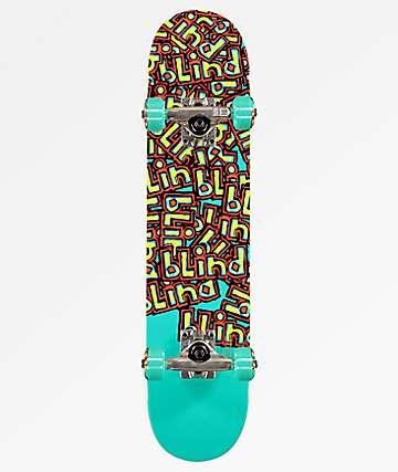 """Blind Letter Drop Soft Top 6.5"""" Skateboard Complete"""