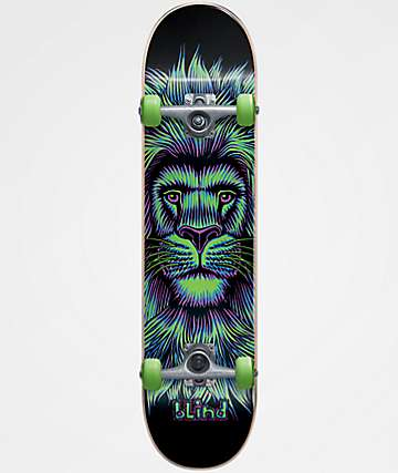 "Blind Lion Neon Green 7.625"" Skateboard Complete"