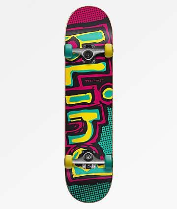 Blind Matte OG Logo 7.25  Yellow & Teal Skateboard Complete