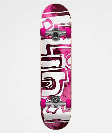 "Blind OG Water Color Pink 7.875"" Skateboard Complete"