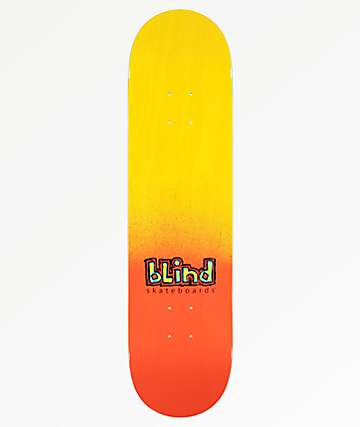 "Blind Spray Fade 8.0"" tabla de skate roja"