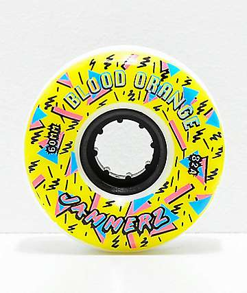 Blood Orange Jammerz 60mm 82a White Longboard Wheels