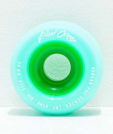 Blood Orange Morgan Pro 65mm 84a Sea Foam Longboard Wheels