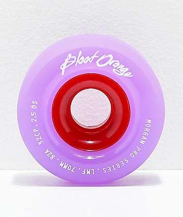 Blood Orange Morgan Pro 70mm 82a Lavender Longboard Wheels