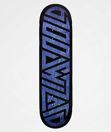 "Blood Wizard Logo Black & Blue 8.37"" Skateboard Deck"