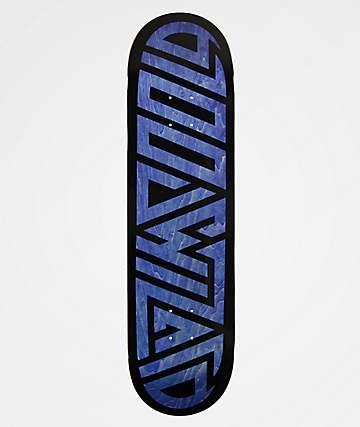 "Blood Wizard Logo Black & Blue 8.37"" Skateboard Deck"