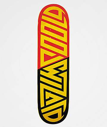 "Blood Wizard Logo Red, Black & Yellow 8.25"" Skateboard Deck"