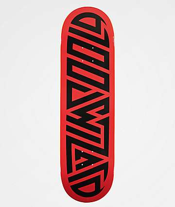 "Blood Wizard Logo Red & Black 8.75"" Skateboard Deck"