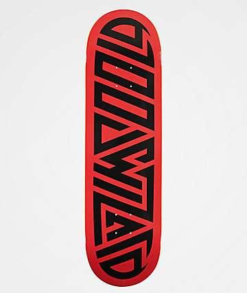 "Blood Wizard Logo Red & Black 8.75"" Skateboard Deck"