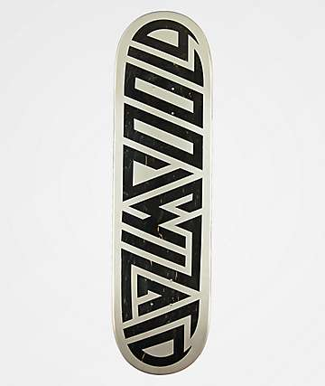 "Blood Wizard Logo Silver & Black 8.5"" Skateboard Deck"
