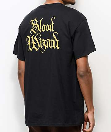 Blood Wizard Scroll Black T-Shirt