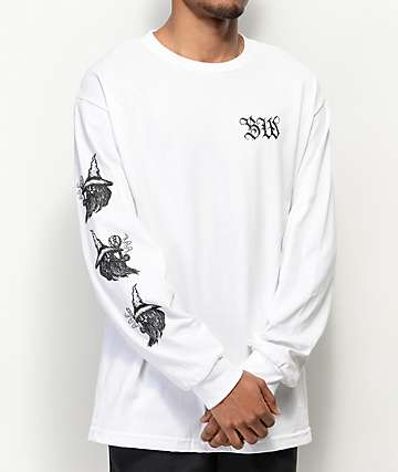 Blood Wizard Stoney White Long Sleeve T-Shirt