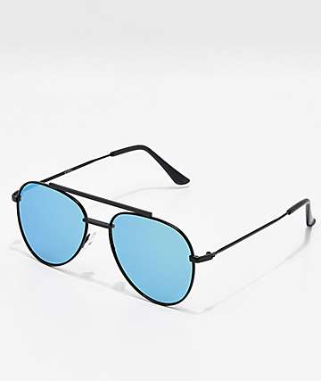 Blue & Green Aviator Sunglasses