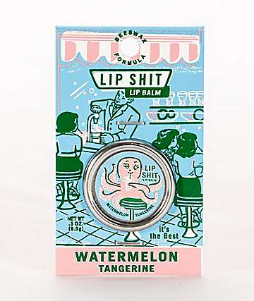 Blue Q Lip Shit Watermelon & Tangerine Lip Balm