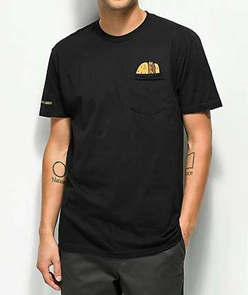 Bob's Burgers x Habitat Burgers camiseta negra con bolsillo