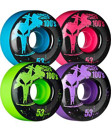 Bones 100s Mixup 53mm Skateboard Wheels