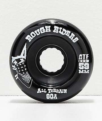 Bones ATF Roughriders 59mm Black Skateboard Wheels