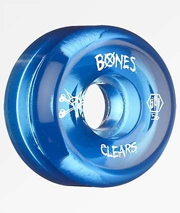 Bones Clear Blue SPF 56mm 104a Skateboard Wheels