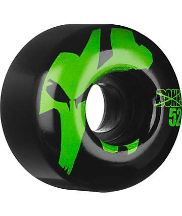 Bones Icons Black & Green 52mm Skateboard Wheels