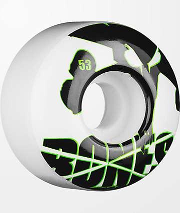 Bones Icons Green & White 53mm Skateboard Wheels