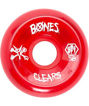 Bones SPF Clear Red 58mm ruedas de skate