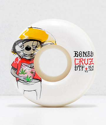 Bones STF Pro Cruz Weedy 51mm Skateboard Wheels