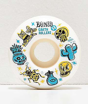 Bones STF Pro Michael Sieben Earth Rollers 53mm Skateboard Wheels