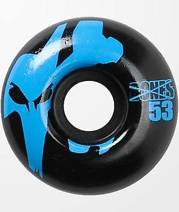 Bones Strobe 53mm ruedas de skate azules y negros
