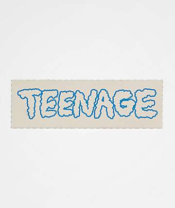 Bored Teenager Cloudy Sticker