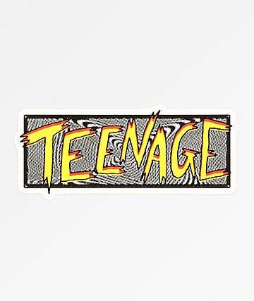 Bored Teenager Scratchy Swirl Sticker